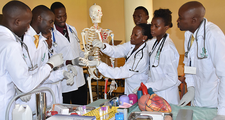 MIHS Students during a Practical Session